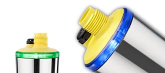 Interruptores de nivel compactos con indicador del estado de conmutación en 360°